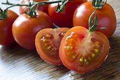 Ripe Fresh Cherry Tomatoes Stock Image