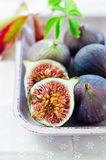 Ripe fresh Fig. Fresh, ripe fig in a plate Stock Photography