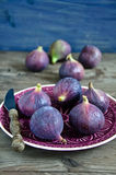Ripe fresh Fig. Fresh, ripe fig on a plate Royalty Free Stock Image