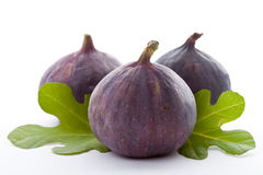 Ripe fresh Fig. Ripe fresh Fig on white background Royalty Free Stock Photography