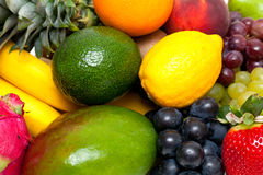 Ripe fresh fruit background Royalty Free Stock Photography