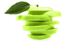 Ripe fresh green apple Stock Images