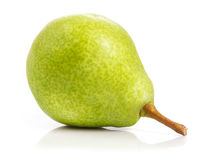 Ripe. Fresh. Juicy pear on white background Royalty Free Stock Photos