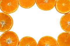 Ripe and fresh mandarins close up for background. Stock Images
