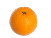Ripe, fresh orange isolated on white background. Royalty Free Stock Images