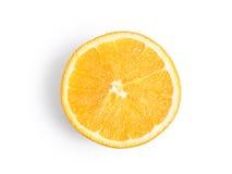 Ripe, fresh orange slice isolated on white background. Royalty Free Stock Photography