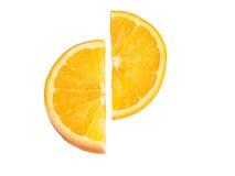 Ripe, fresh orange slice isolated on white background. Stock Photography