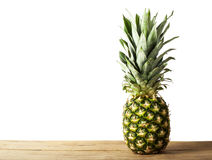 Ripe fresh pineapple isolated on white background Stock Photography