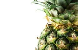 Ripe fresh pineapple isolated on white background Stock Image