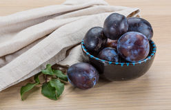 Ripe fresh plum Royalty Free Stock Photo
