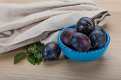 Ripe fresh plum Stock Image