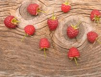 Ripe fresh raspberries Stock Photos