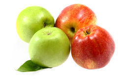 Ripe fresh red and green apple Royalty Free Stock Images