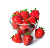 Ripe fresh strawberries on plate Stock Photos