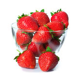 Ripe fresh strawberries on plate Royalty Free Stock Images