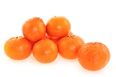 Ripe fresh tangerines Stock Photography