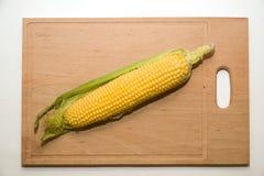 Ripe fruit of corn on over white Royalty Free Stock Photos
