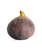 Ripe fruit fig closeup on a white background, isolated Stock Images