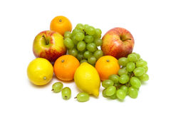 Ripe fruit isolated on a white background Royalty Free Stock Photo