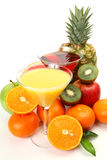 Ripe fruit and juice Royalty Free Stock Photo