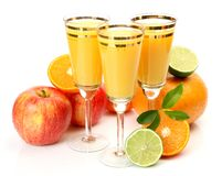 Ripe fruit and juice Royalty Free Stock Images