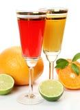 Ripe fruit and juice Stock Photo