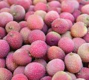 Ripe fruit lychee closeup Stock Photos