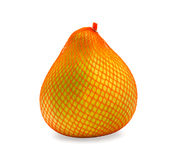 Ripe fruit of pomelo in package, isolated Royalty Free Stock Image