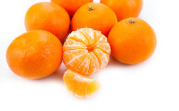 Ripe fruit tangerine. Close-up Stock Photos