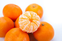 Ripe fruit tangerine. Close-up Royalty Free Stock Photo