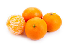 Ripe fruit tangerine. Close-up Royalty Free Stock Images