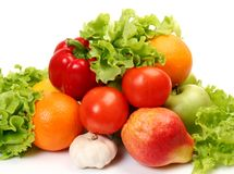 Ripe fruit and vegetables Stock Photography