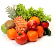 Ripe fruit and vegetables royalty free stock photos
