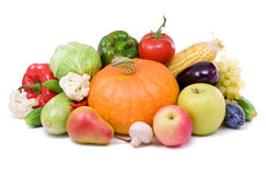 Ripe fruit and vegetables,healthy food. Stock Image