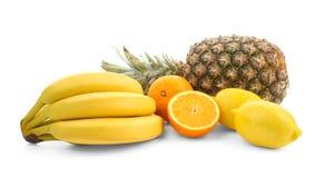 Ripe fruits on background. Ripe fruits on white background stock images