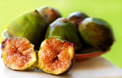 Ripe fruits of a fig on  background Royalty Free Stock Photography
