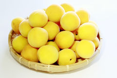 Ripe fruits of Ume Royalty Free Stock Photos