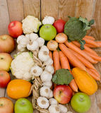 Ripe fruits and vegetables Royalty Free Stock Photo