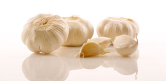 Ripe Garlic Cloves Stock Photography