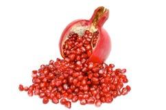 Ripe garnet fruit isolated on white background Stock Photography