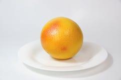 Ripe Golden appetizing grapefruit. Stock Photo