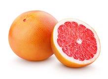 Free Ripe Grapefruit Citrus Fruit With Half Isolated On White Stock Photos - 67585263