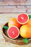 Ripe grapefruit halves Royalty Free Stock Photo