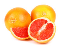 Ripe grapefruit on a white Stock Photo