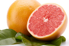 Ripe grapefruit on a white background. Royalty Free Stock Photography