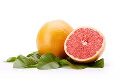 Ripe grapefruit on a white background. Royalty Free Stock Image