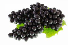 Ripe grapes isolate Royalty Free Stock Photos