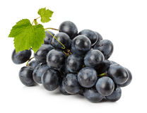 Ripe grapes isolated on the white background Royalty Free Stock Photo