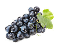 Ripe grapes isolated on the white background Stock Photos