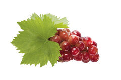 Ripe grapes with leaf Royalty Free Stock Image